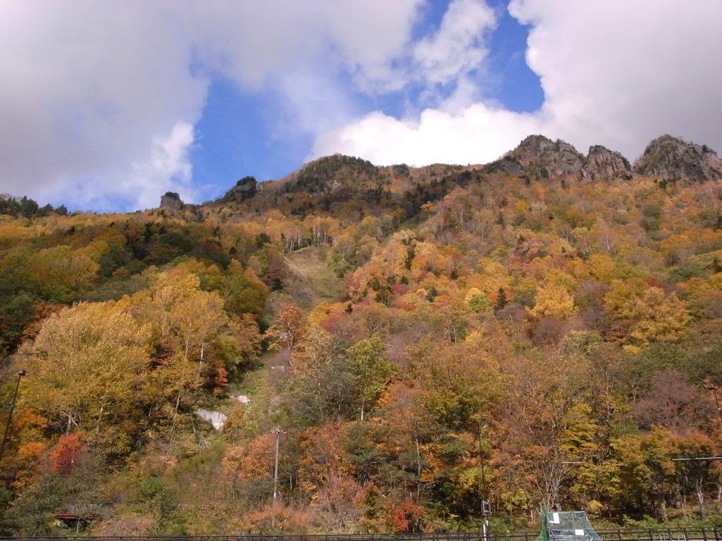 ひと足早い紅葉 in 層雲峡