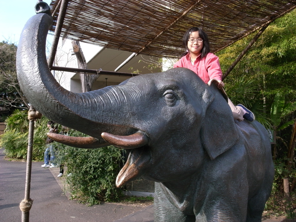 ゾウさんに乗ったよ
