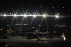 夜のシカゴ空港