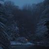 雪の三四郎池-1