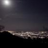 月と夜景_駿河湾を臨む