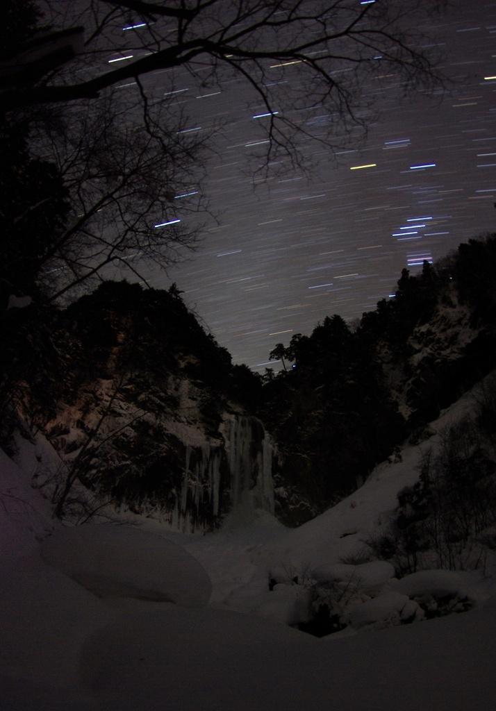 凍てつく平湯大滝