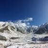 雪渓の立山連峰