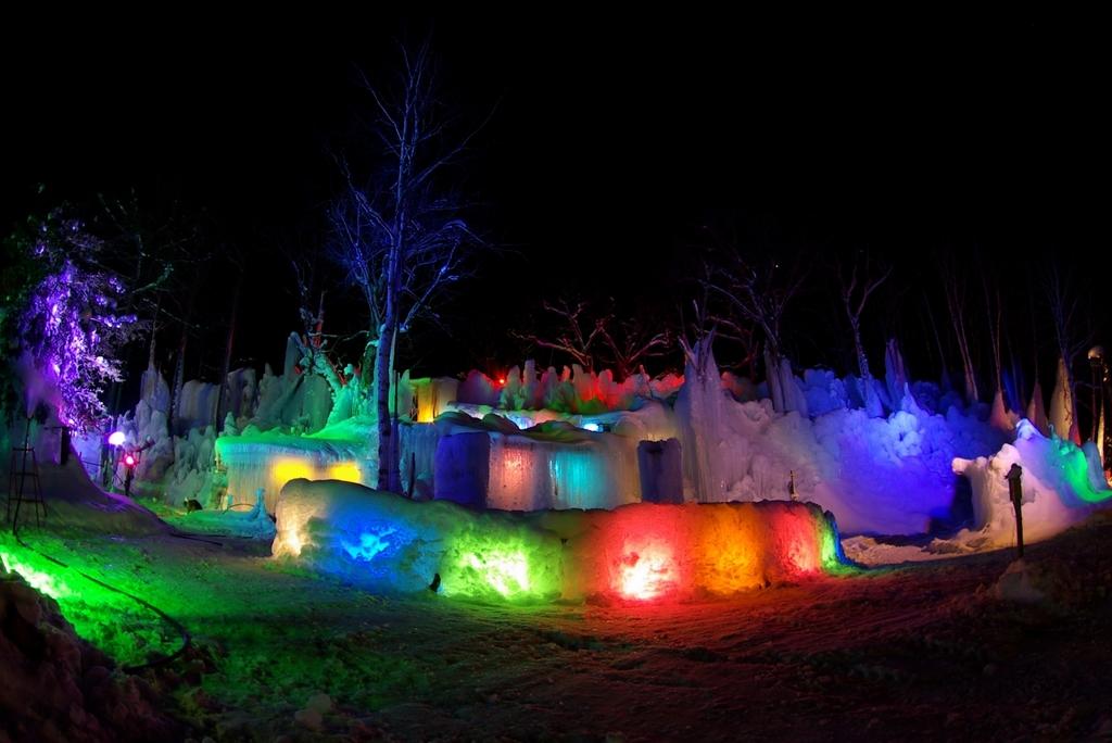 氷点下の森 ライトアップ