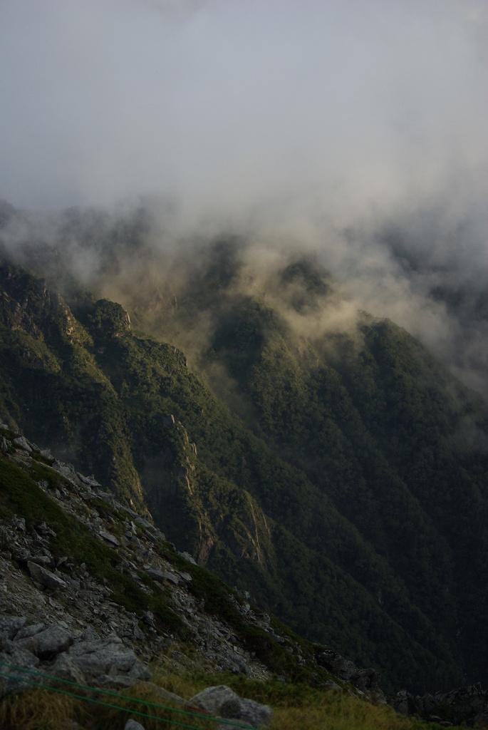 雲の切れ間のアーベントロート