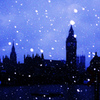 雪のロンドン