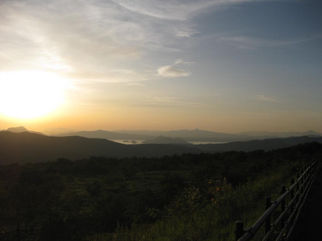 北海道の夕焼け