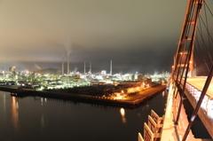 夜の周南大橋