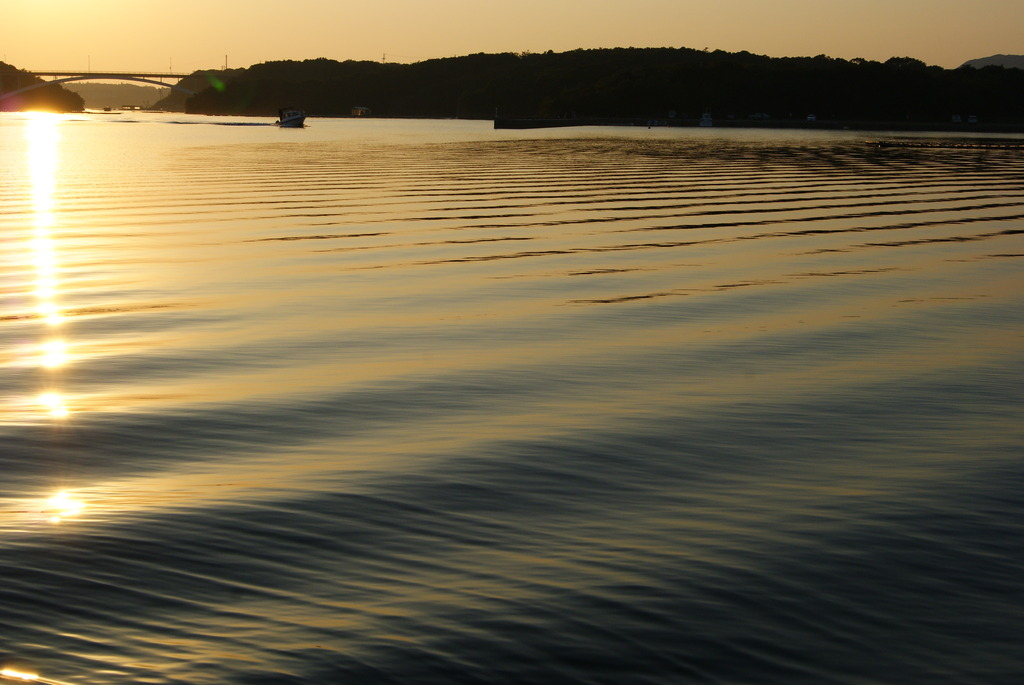 英虞湾の夕日