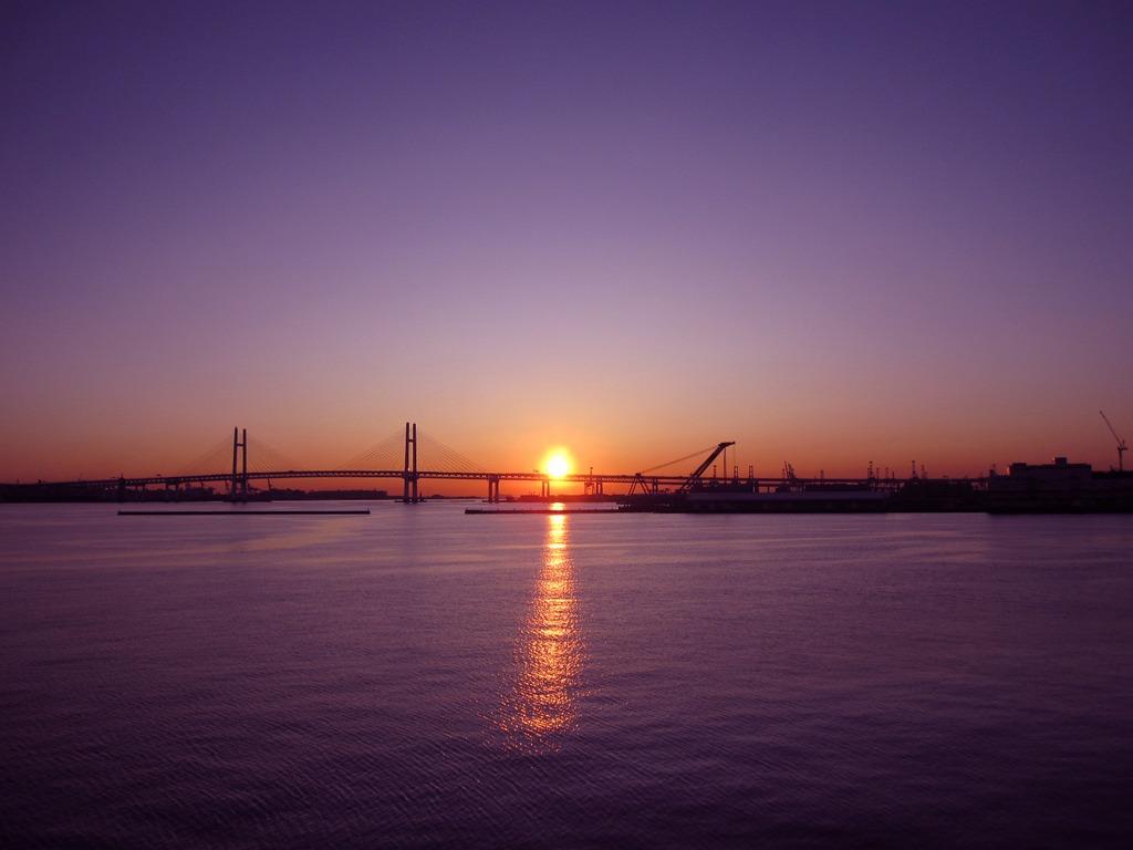 横浜の朝@大桟橋