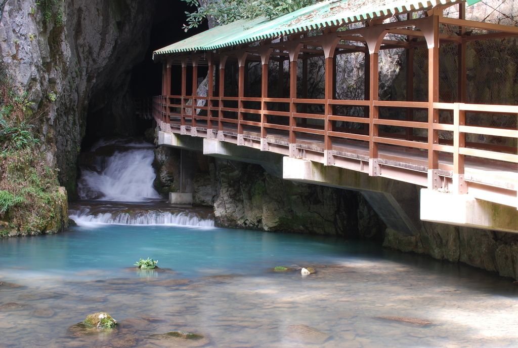 秋芳洞への入り口