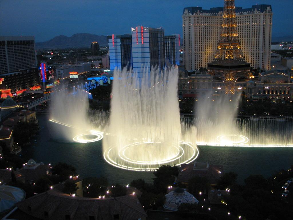 ベラージオホテル(ラスベガス)の噴水ショー1