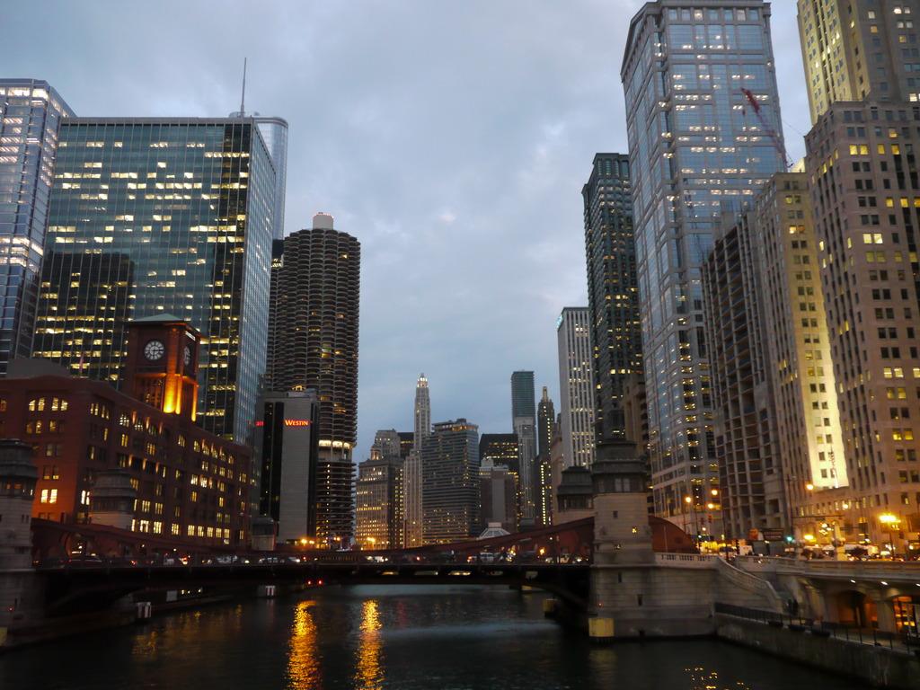 chicago夕方