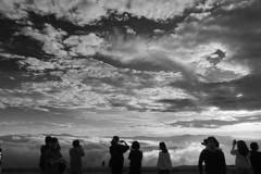 雲海を眺めて