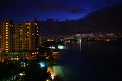 ビーチの夜景