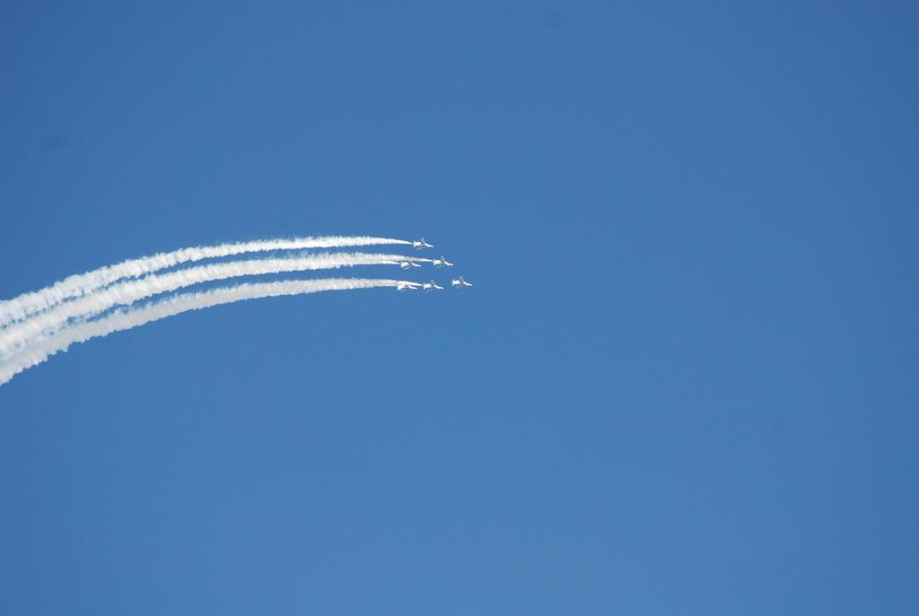 2008入間航空祭 ブルーインパルス(前日予行練習)