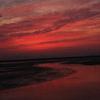夕焼けの有明海