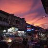 旧市街を労う夕陽