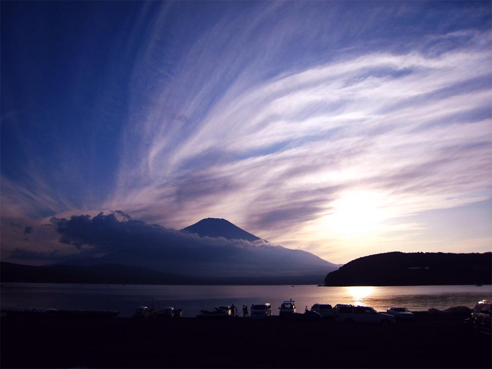 山中湖夕日