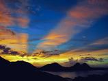 台風接近中の夕焼け