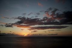 屋久島の夕焼け