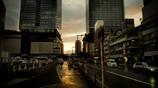 雨上がり・・・梅田の夕暮れ