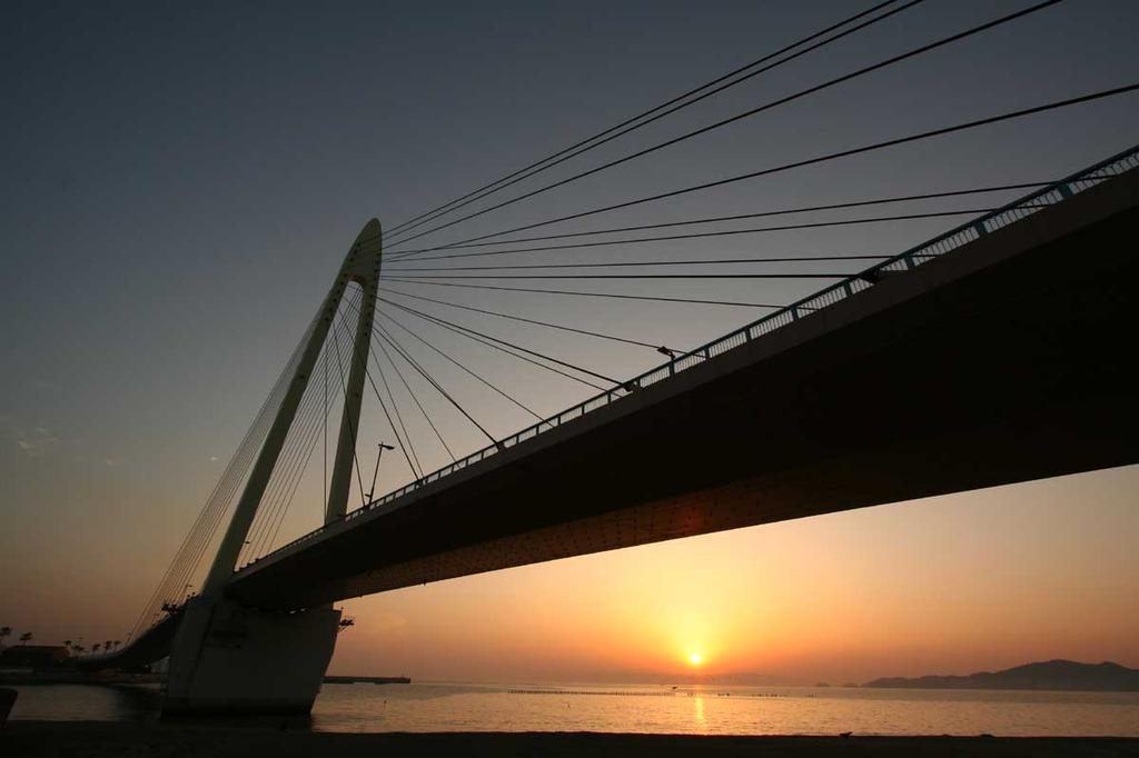 サンブリッジと夕日