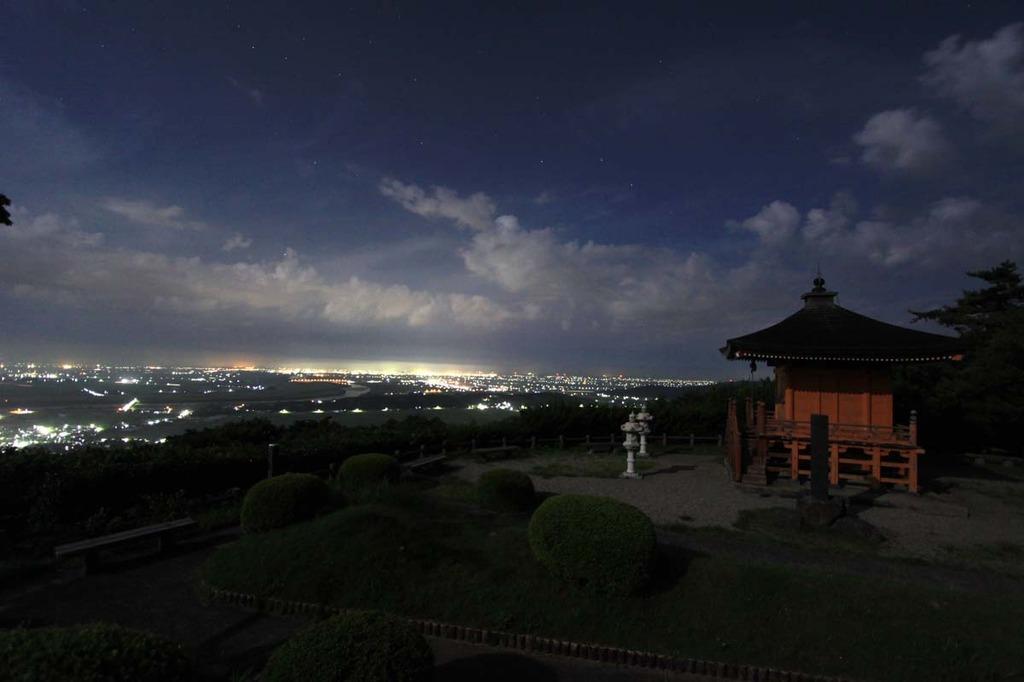 酒田市の夜景
