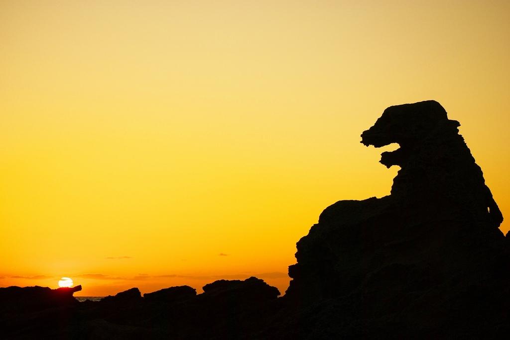 男鹿のゴジラ岩