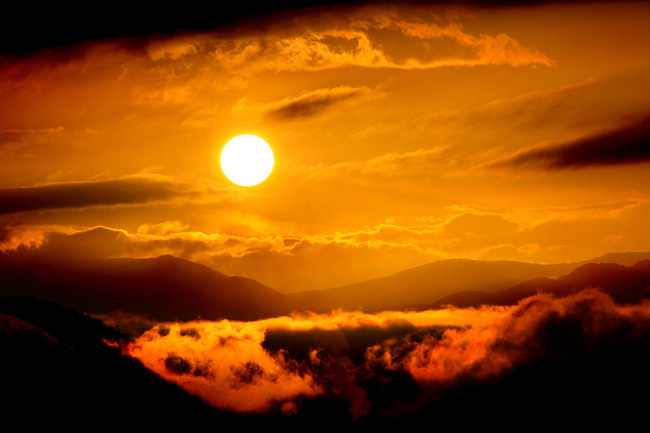 足柄の夕日