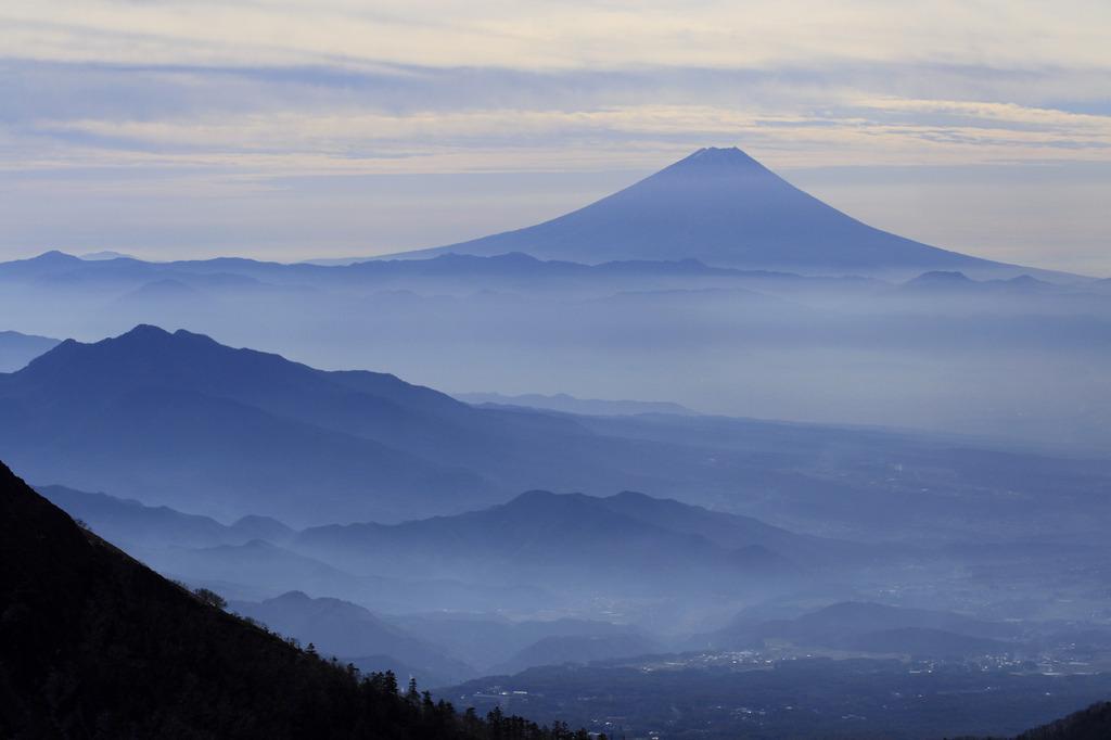 八ヶ岳から望む