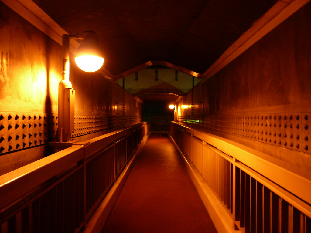 歩道橋の夜