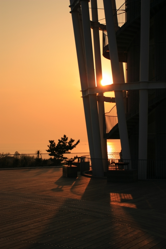 夕焼けの展望台