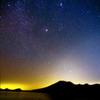 美笛キャンプ場から見た星空