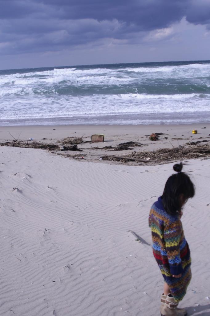 娘と日本海