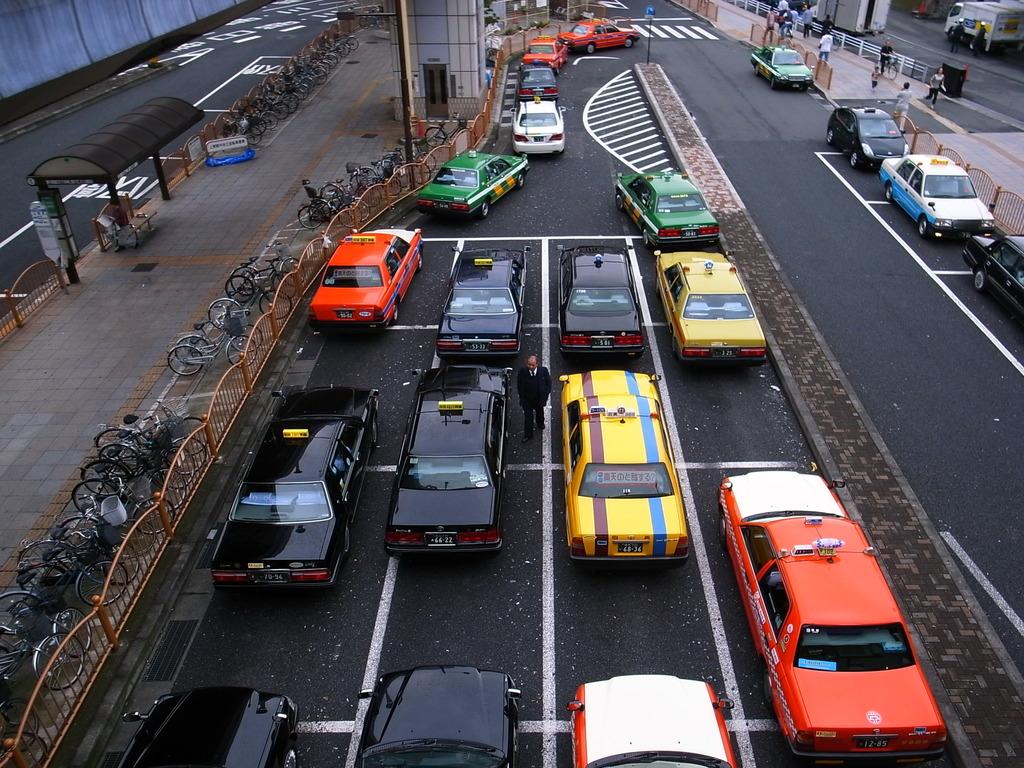 上野のタクシー