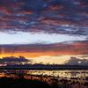 チチカカ湖の夜明け