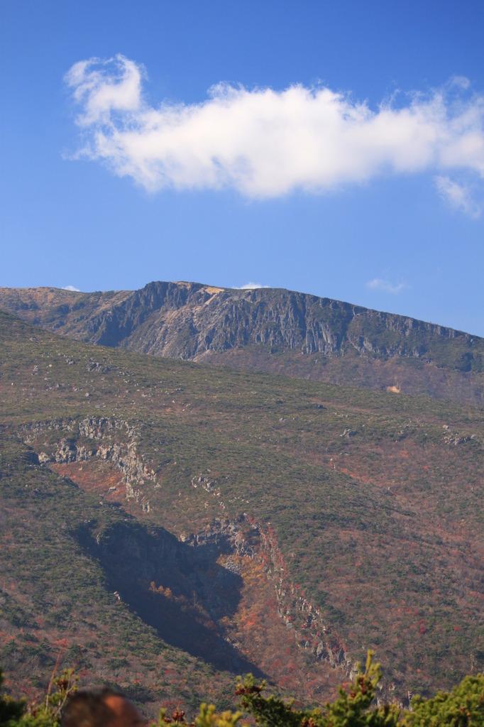 安達太良山の近く