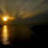 琥珀に染まる伊勢湾