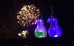花火と電球ジュース