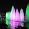 上野公園の噴水ライトアップ