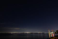 琵琶湖の星空