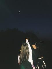 お月様みーっけ