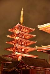 浅草寺 五重塔2