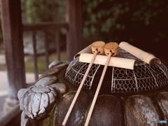 五條天神社の手水舎(ちょうずや)