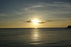アラハビーチのサンセット