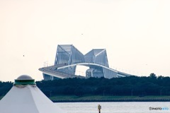 葛西臨海公園から東京ゲートブリッジを臨む2
