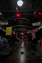 深夜の市場