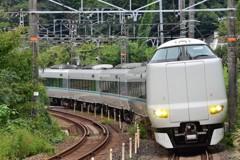山中渓駅 287系 特急「くろしお」