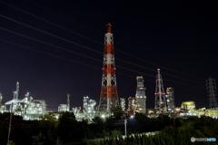 大阪府高石市高砂 工場夜景